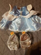 Build A Bear Workshop Clothes Disney Princess Cinderella Dress & Glass Slippers