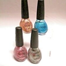 4 PK Nicole by O.P.I. Nail Polish, Gold Sparkles Pink Purple Blue, NEW
