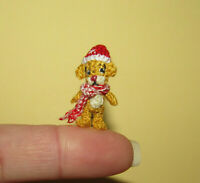 "Dollhouse Miniature Ooak Artist Bear 1"" Micro Teddy Bear Doll Toy Christmas Gift"