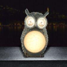 Cute Resin Owl-shaped 4 LED Solar Lawn Light Garden Lamp Rechargeable Waterproof