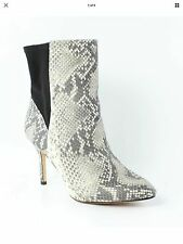 New $400 W/box Carolinna Espinosa Snake Leather Boots Bootie Heels 10