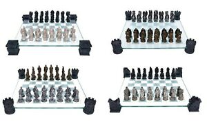 CHESS SET MEDIEVAL KNIGHT DRAGON - VAMPIRE WEREWOLF NEMESIS NOW BOXED HOME GIFT