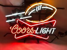 Neon Light Coors Light Football Beer Bar Room Home Party Bud Poster Lamp Sign