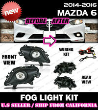 14 15 16 17 MAZDA 6 Fog Light Driving Lamp Kit w/ switch wiring (CLEAR)