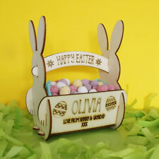 Personalised Easter Egg Bunny Rabbit Basket - for Egg Hunts or Kids Easter Gift
