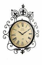 Large Decorative Metal Garden Wall Clock For Indoor Or Outdoor Use (80cm)