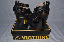 Pour La Victoire Women's  Platform Sandal High Heels 8.5  Leather AUTHENTIC NEW