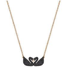 Swarovski 5296468 5204130 Iconic Swan Double Necklace RG 24x10mm RRP $179