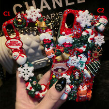 Handmade Cream Cartoon Christmas Gift toy Soft back Phone Covers Cases For HTC