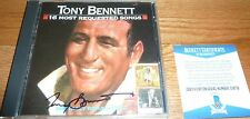 BECKETT-BAS TONY BENNETT AUTOGRAPHED-SIGNED 16 MOST REQUESTED SONGS CD C18716
