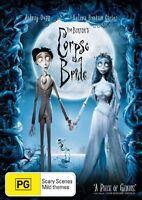 Tim Burton's Corpse Bride (2005) Johnny Depp - very good conditio DVD - Region 4