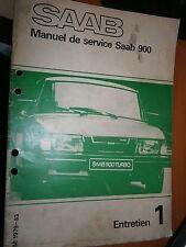 Saab 900 : manuel atelier partie 1 Entretien de 1979 à 1983