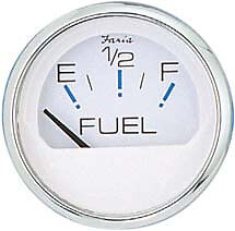 NEW Faria Boat Gas Fuel Level Gauge Chesapeake SS White Instrument FAR 13801