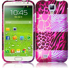 For Samsung Galaxy S4 Rubberized HARD Case Snap On Phone Cover Pink Exotic Skins