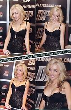 KAYDEN KROSS FOUR SEXY!! COLOR CANDID 4x6 PHOTOS HOT LOWCUT BLACK DRESS!!