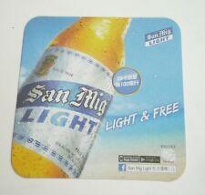 HONG KONG Beer Mat Coaster SAN MIGUEL LIGHT Light & Free 2015 Chinese Asia
