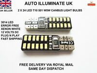 T10 501 W5W CAR BULBS LED NO ERROR CANBUS SMD XENON WHITE INTERIOR LAMPS 12V