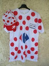 Maillot cycliste à pois TOUR DE FRANCE + casquette shirt maglia trikot cap XL