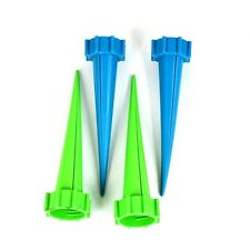 4Pcs Plant Water Control Drip Cone Spike Waterer Bottle Irrigation System E2U