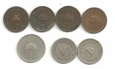 (pgasteelers1) Hungary - Filler Collection of 7 coins 1890's - Check it out -