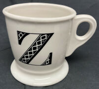 "Anthropologie Monogram Ceramic Coffee Cup Mug Personalized Letter Initial ""Z"""
