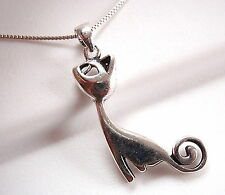 Adoring Kitty Necklace 925 Sterling Silver Corona Sun Jewelry Cat Pet Lover