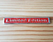 Red/Chrome 3D Metal Limited Edition Badge for Fiat Grande Punto Panda Abarth SUV