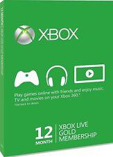 Xbox Live Subscription 12 Month Gold Membership Card no cd no key ita multi leg