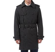 XL nuova linea uomo Charcoal grigio doppio petto button-up TRINCEA MAC Cappotto