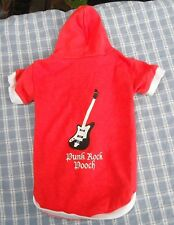 "Red ""Punk Rock PoocH"" Guitar lightweight hoodie size medium"