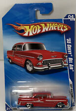Hot Wheels '10 Hot Auction '55 Chevy Bel Air 04/10 New R7587 Chevy Bel Air
