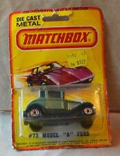 New Original MATCHBOX LESNEY DieCast Superfast 1980 #73 Model A FORD Green