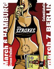 Justin Hampton The Strokes Slikscreen Concert Poster