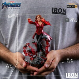 Iron Studios 1/10 Endgame Scarlet Witch Statue Avengers Figure Collection Gift