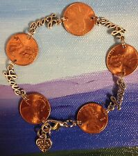 Lucky In Love Lucky Penny Bracelet us coin jewelry valentines day FREE SHIPPING