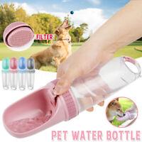 Tragbar Hunde Katze Haustier Wasserflasche Trink Becher Welpe Reise Outdoo