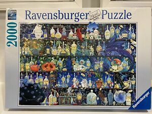 Ravensburger RARE Poisons and Potions Bottles Wizardry Dragon 2000 Piece Puzzle