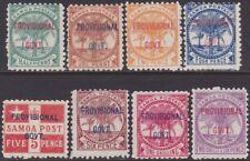 FULL SET Samoa 1899-1900 Overprinted Definitive 1/2d-2s6d MH MNG Stamps SG90/97