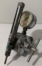 Airco 8481 Vintage Oxygen Regulator With Oiler Guage Steam Punk B1