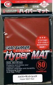 KMC Card Protection Hyper Matte Red (80) New