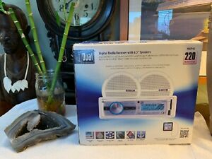 """DUAL Marine Digital Media Receiver +Two 6.5"""" Speakers For Boats Yachts BRAND NEW"""