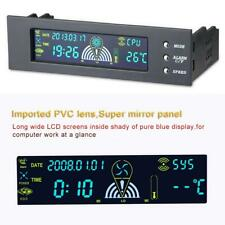 "5.25"" Panel Cooling Fan Speed Control Controller CPU Hd Temperature Sensor Pc"