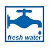FRESH WATER STICKER BLUE 60MM X 55MM CARAVAN MOTORHOME CAMPSITE SINK