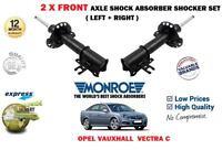 Per Opel Vauxhall Vectra C 2002-2008 2 X Ammortizzatore Anteriore Set