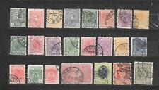 SERBIA SERBIE 23 valori USATI 1881-1918   -  lot lotto