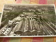 PHOTO AERIENNE 27 cm x 45 cm LAPIE 1956 acieries de messempre  ardennes