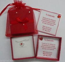 Bonbonnières de mariage rouges, personnalisés