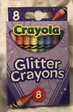 New Crayola Glitter Crayons 8 Count