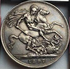 1 Crown 1897-LX Victoria 3rd portrait United Kingdom Only 262,000 High Grade RRR