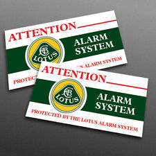 LOTUS ALARM SYSTEM reproduction stickers for Elise / Exige S1 (set of 2)